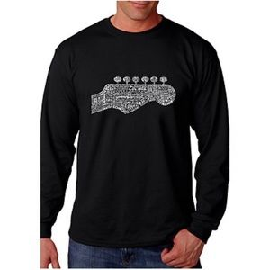 NEW LA Pop Art graphic guitar neck word art shirt